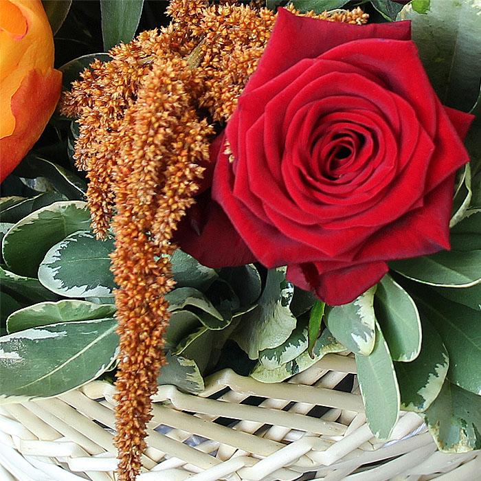 фото 1: Корзина с розами
