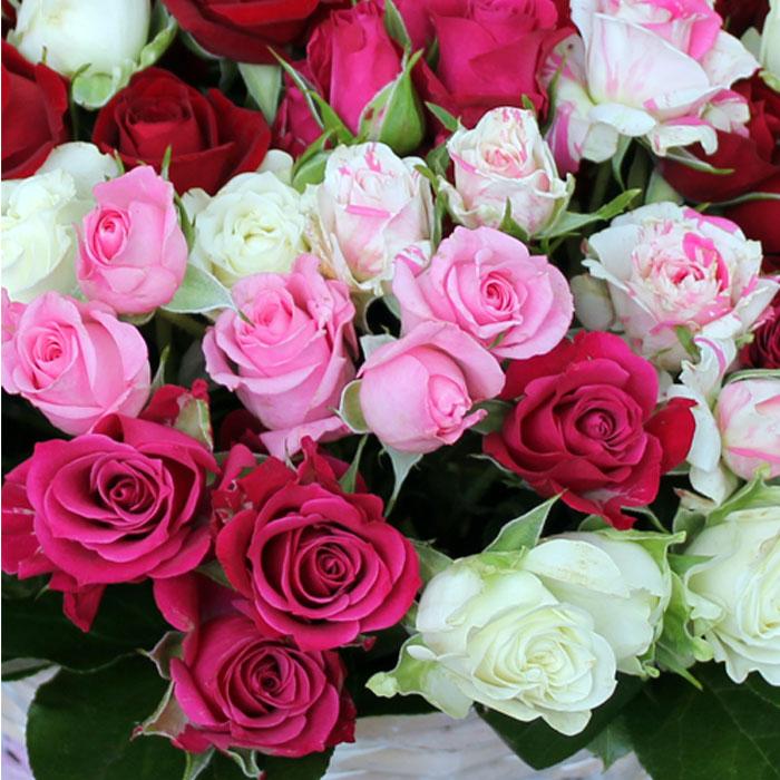 фото 1: Корзина из роз