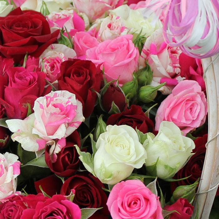 фото 2: Корзина из роз