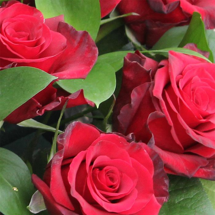 фото 2: Корзина из 17 красных роз