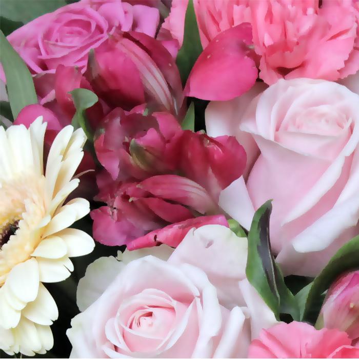 фото 1: Букет розово-кремовый