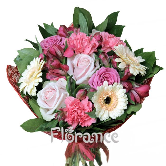 Букет розово-кремовый