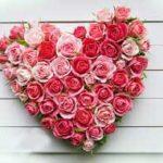 Композиция из роз в виде сердца